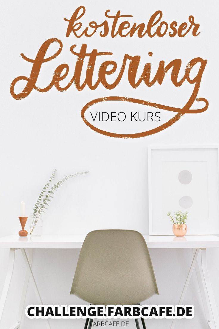 kostenloser Lettering Video Kurs (mit Bildern) Lettering
