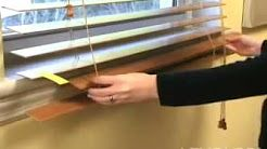 How To Shorten Levolor Cordless Faux Wood Blinds Youtube Faux