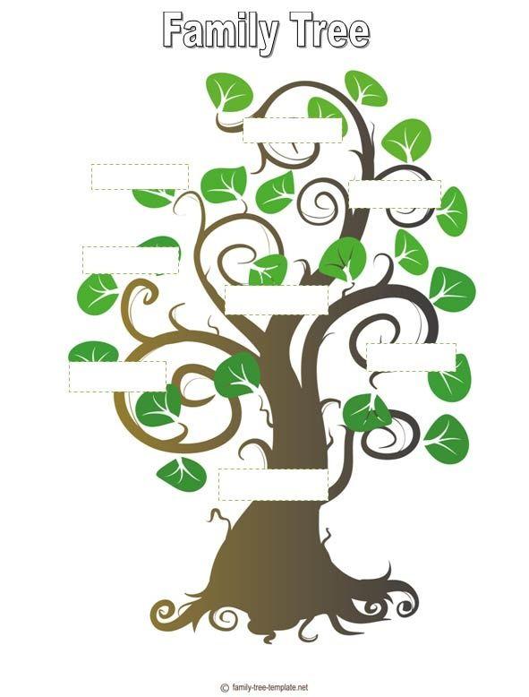 Family Tree Template Ms Family Reunion Pinterest Family Trees