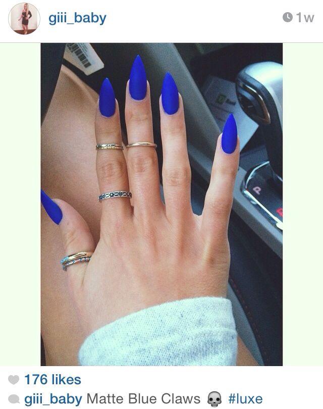 Matte blue   Nails   Pinterest   Makeup, Nail nail and Hair makeup