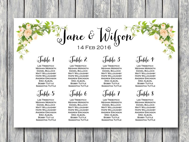 Peonies Wedding Seating Chart Printable Free Wedding Seating