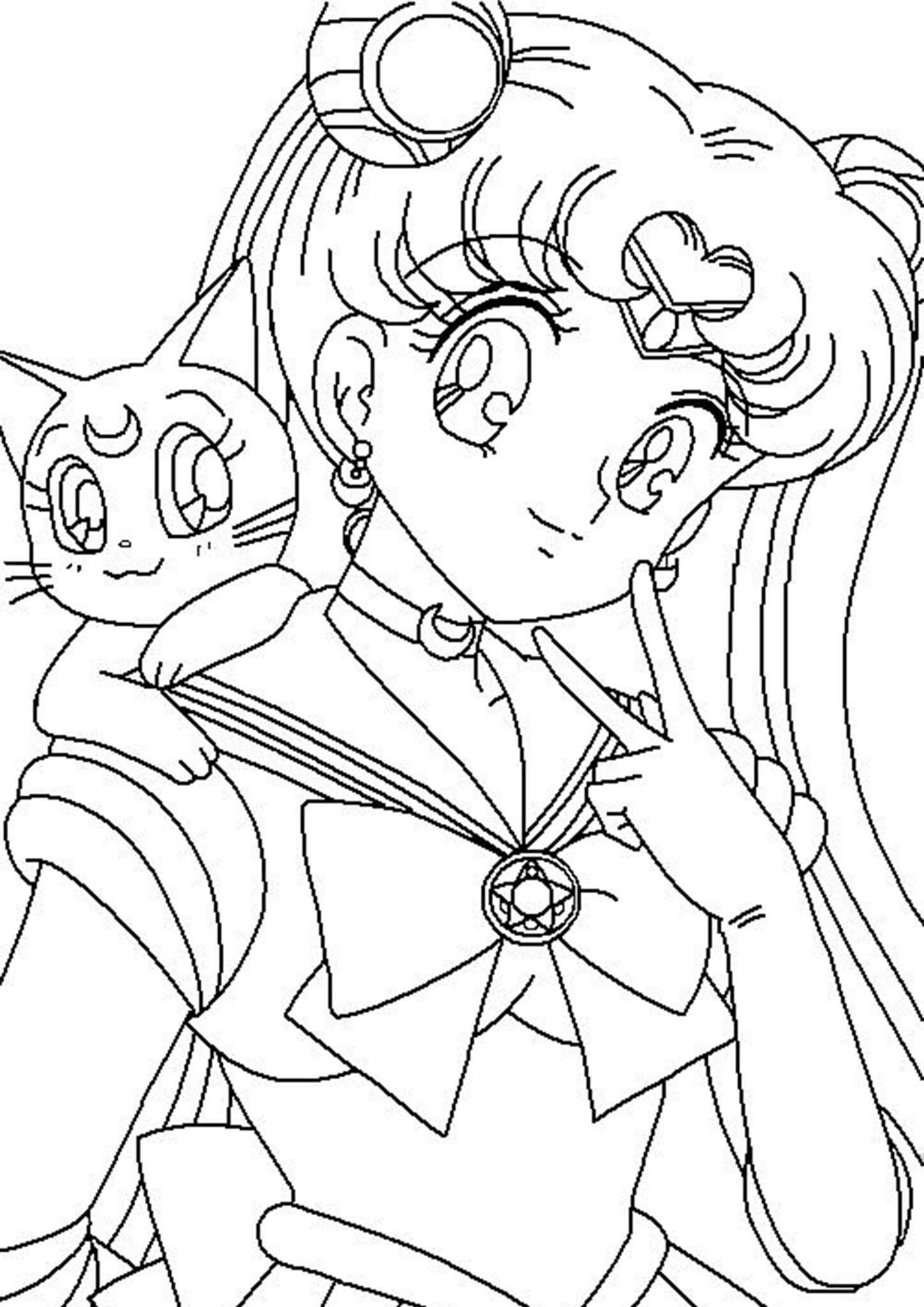 Free Easy To Print Sailor Moon Coloring Pages Moon Coloring Pages Sailor Moon Coloring Pages Sailor Moon Tattoo