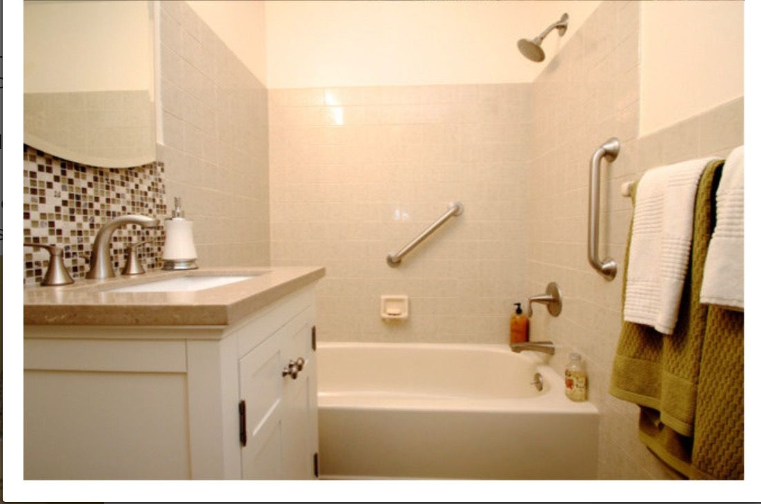 Updating Bath With Almond Tub And Toilet With Images Bathroom