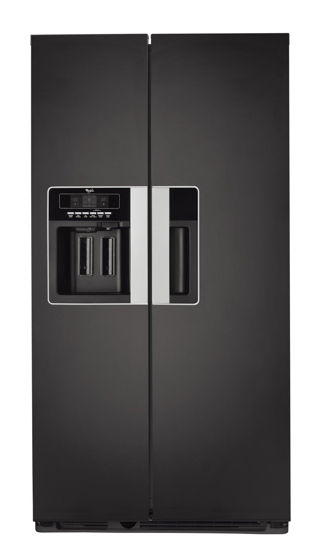 Refrigerateur Americain Whirlpool Wsn5586a N Frigo Design Refrigerateur Americain Frigo Noir