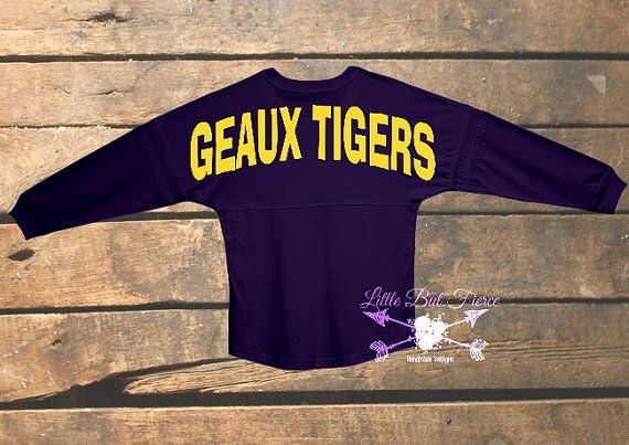 Check out this item in my Etsy shop https://www.etsy.com/listing/247148070/lsu-oversized-jersey-you-choose-color