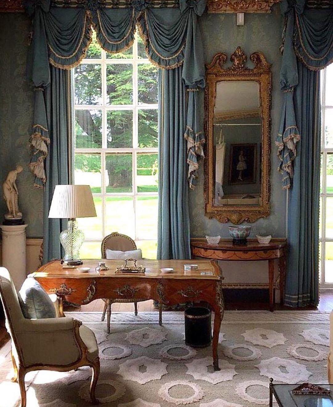 Window Treatments Interiordesign: Michael J. Siller On Instagram: Cornbury House By John