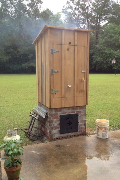 smokehouse plans - Google Search | Homemade smoker, Wood ... on still making plans, open pit barbecue plans, privy plans, root cellar plans, shed plans, trailer mounted bbq plans, moonshine still plans, log cabin plans, homestead plans, windmill plans, bakery plans, barbeque plans, floor plans,