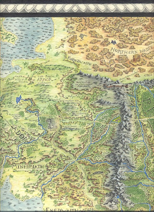 middle earth map 26 by mike lafayette