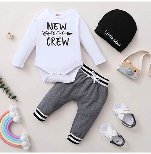 Toddler Infant Baby Boy Clothes Outfit Plaid Long Sleeve Hoodie Sweatshirt Pants Fall Winter Clothes Set for Baby Boy