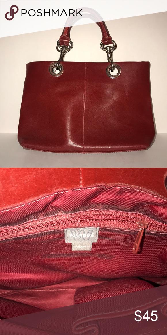 Wilson Leather Handbag Red