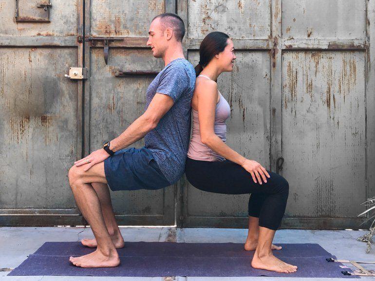 Couple S Yoga Poses 23 Easy Medium And Hard Duo Yoga Poses Couples Yoga Poses Yoga Poses For Two Couples Yoga