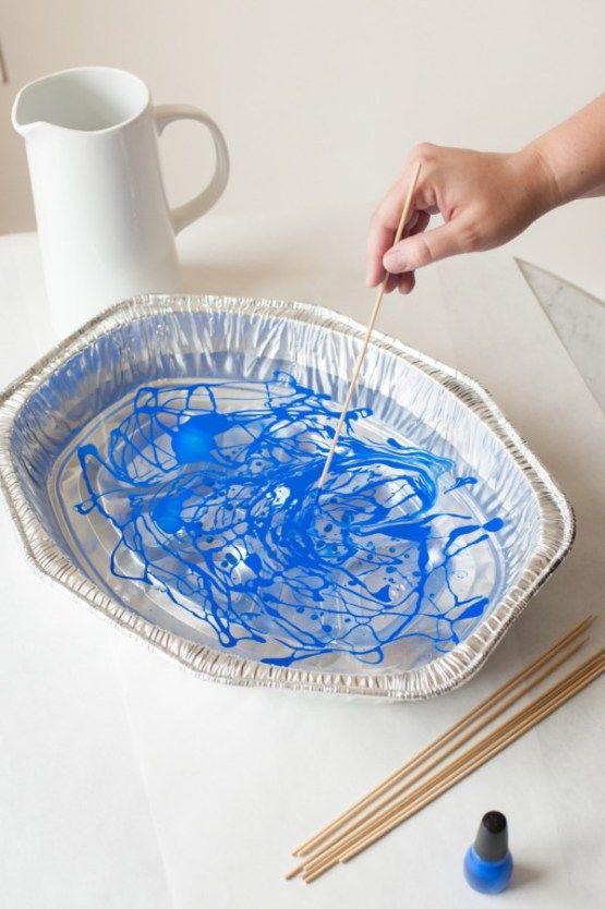 DIY – efecto mármol en una jarra de cerámica blanc