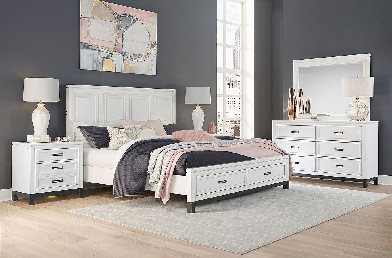Hyde Park Storage Bedroom Set (White Paint) in 2020 (With