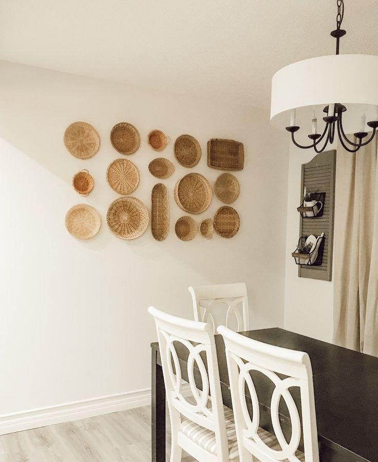 Farmhouse basket wall baskets on wall room decor