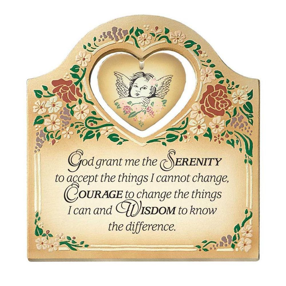 Serenity Prayer Embossed Wood Plaque with Easel | SewSoulful ...