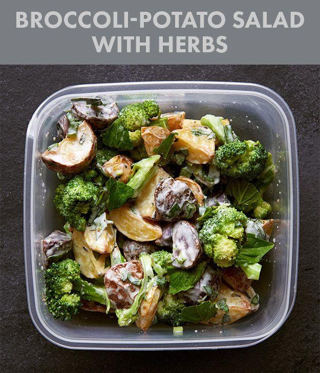 Broccoli-Potato Salad with Herbs