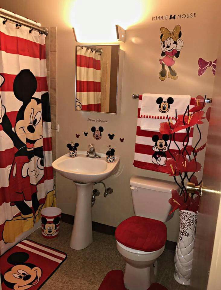Mickey And Mini Mouse Bathroom So Cute Avec Images Idee
