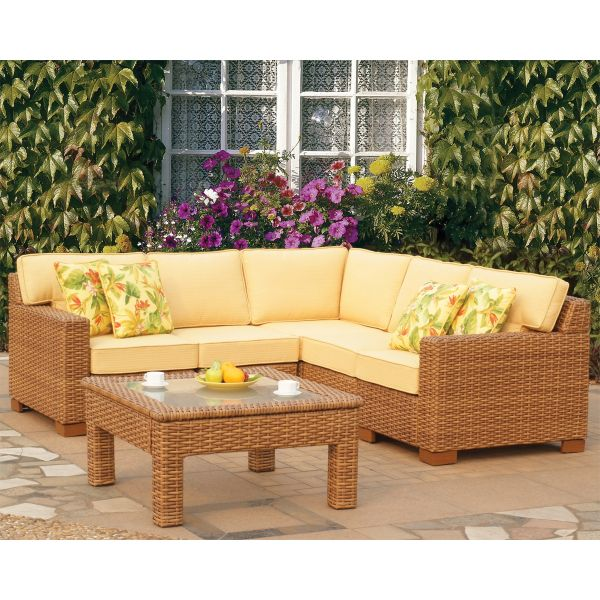 Miriana Wicker Sectional By Leisure Select Furniture Furniture
