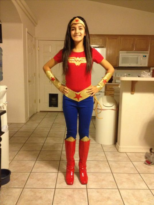 Diy Girls Halloween Costumes  Wonder Woman Halloween -1772
