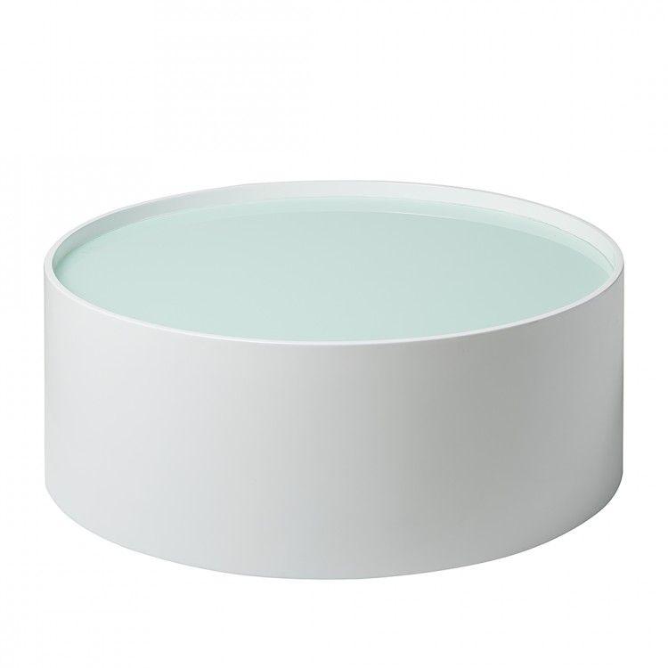 Tolle Couchtisch Weiß Hochglanz Glasplatte Deutsche Deko