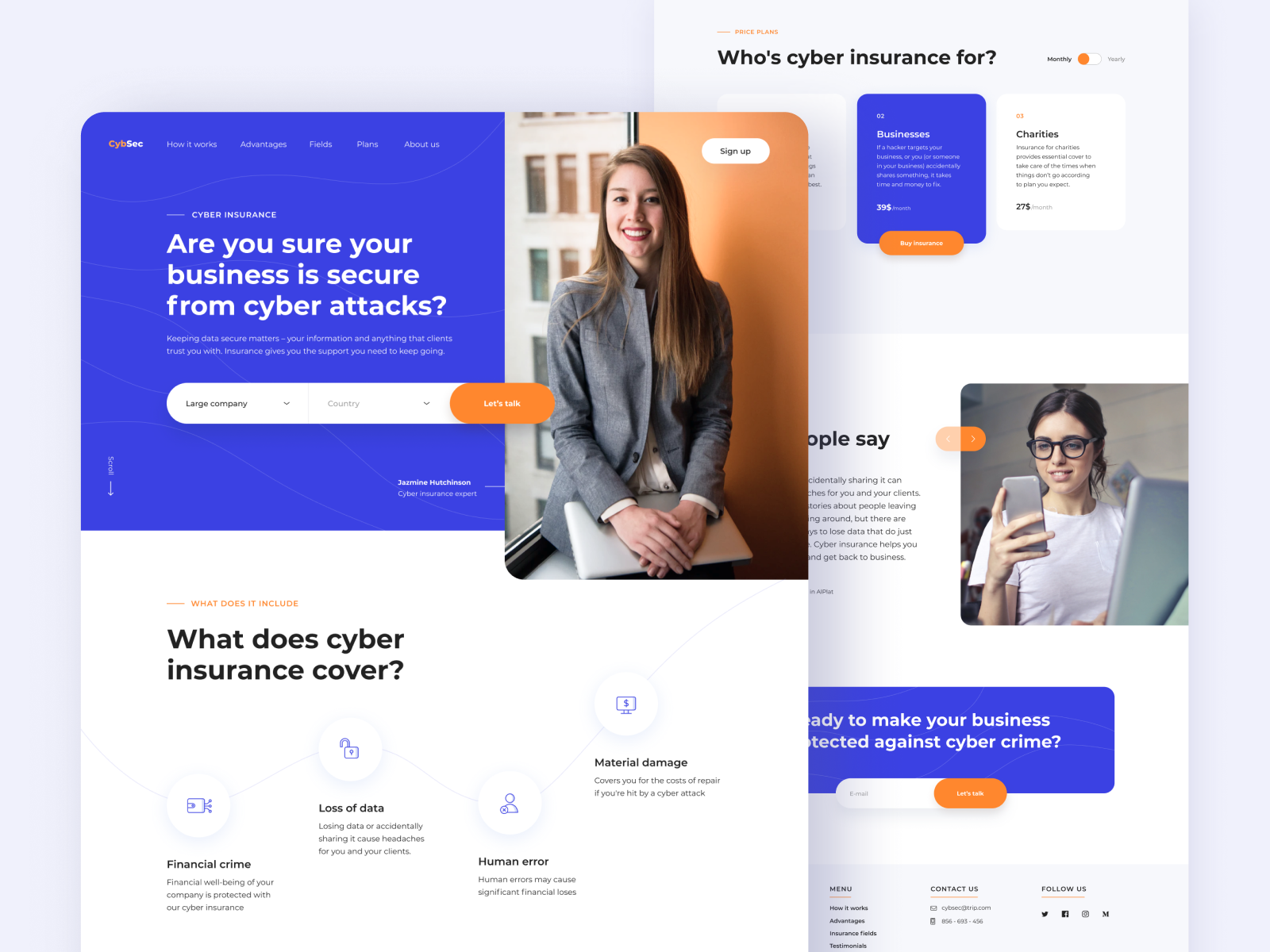 Cybersecurity Website In 2020 Cyber Security Web Design Interface Design