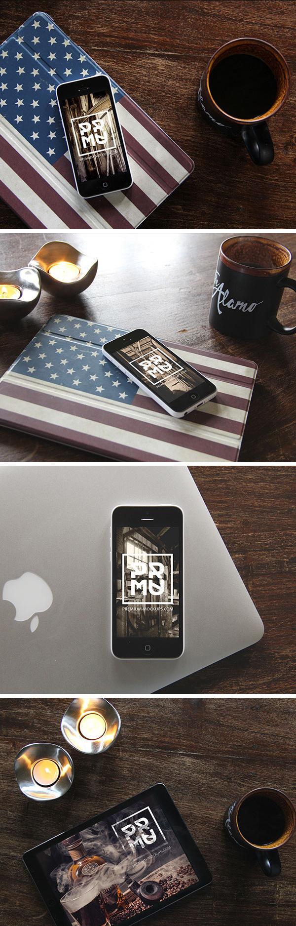 iPhone & iPad Photo MockUps | GraphicBurger