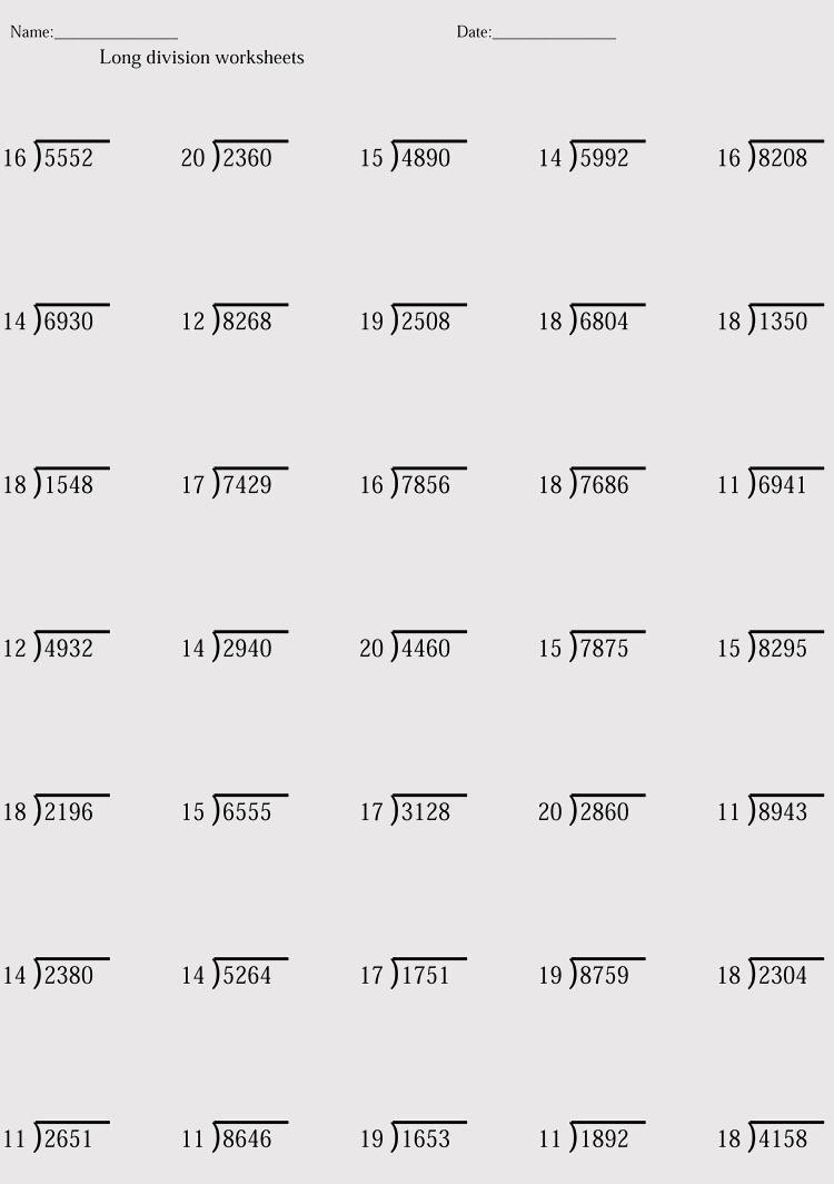 38 Printable Division Worksheets Grade 4 Division Worksheets Division Worksheets Grade 4 Multiplication And Division Worksheets