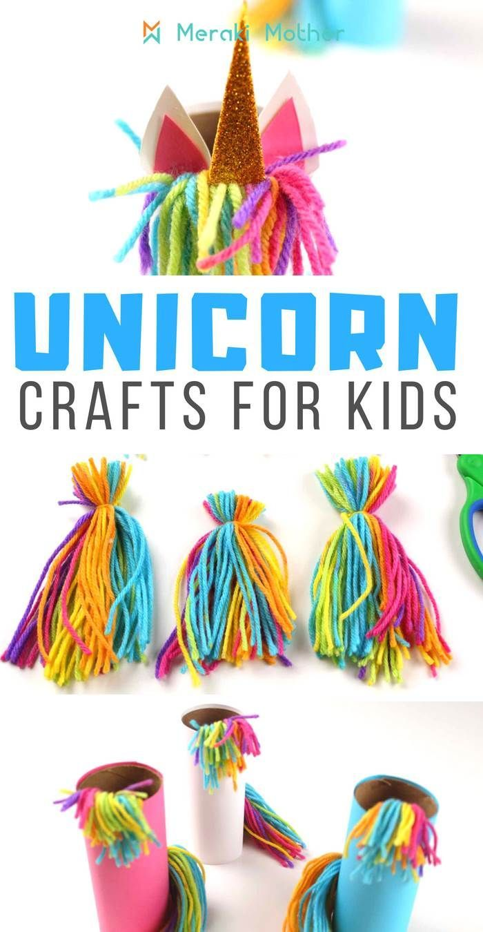 Unicorn crafts for kids to make at home today! Find out how to make your very own magical unicorn craft #unicorn #unicorncrafts #papercraft #craftsfirkids #papercraft #kidsactivities #kidscrafts…More #unicorncrafts