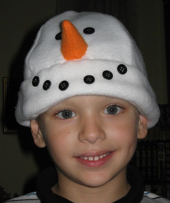 Snowman Fleece Hat Pattern by kerryhoyledesign on Etsy, $8.00
