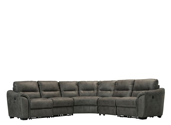 Rockland 5 Pc Microfiber Power Reclining Sectional Sofa D1915