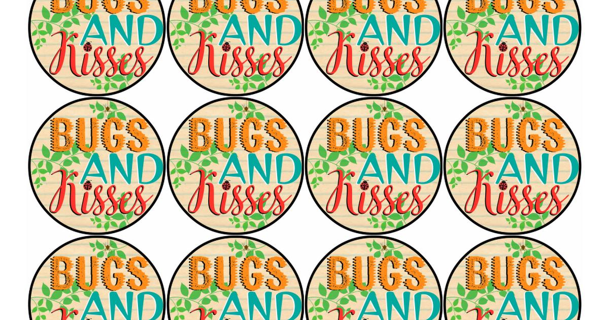 ef6345c4f788 Free Printable Bugs   Kisses Valentine Gift Tags.pdf Cadeaux Saint Valentin,  Étiquettes À
