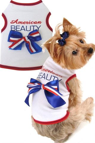 American Beauty Tank Dress in color Red/White/Blue - Daisey's Doggie Chic - 2