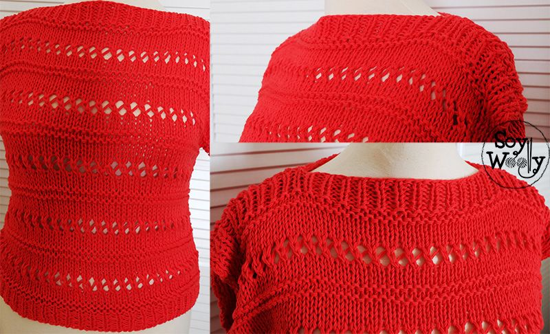 Como tejer jersey primavera dos agujas facil y rapido-Soy Woolly fb0f00efcfe6
