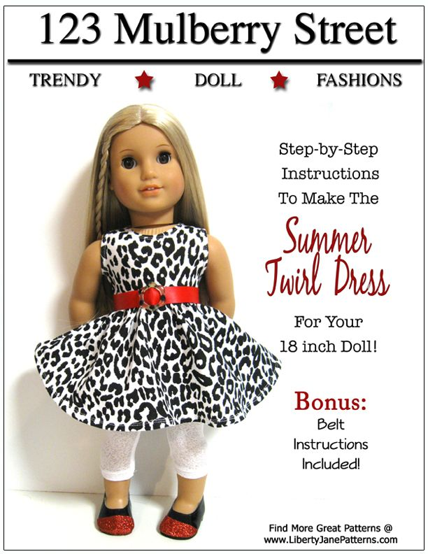 123 Mulberry Summer Twirl Dress Cover Web | Doll sewing | Pinterest
