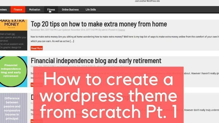 How to create a wordpress theme from scratch part 1 | ** General ...