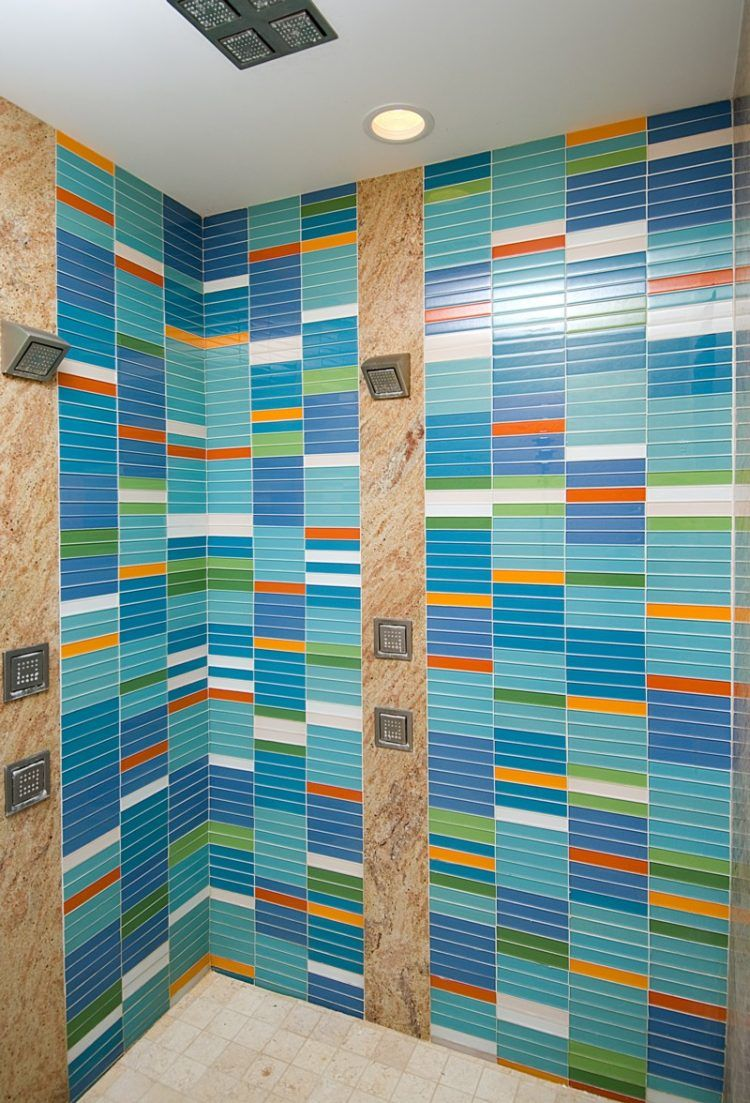 15 Beautiful Glass Bathroom Tile Designs   Glass bathroom, Tile ...