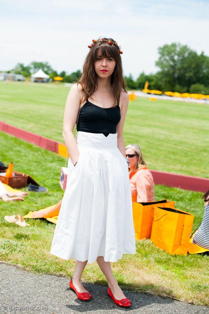 White Maxi Skirt, Veuve Clicquot Polo Classic | Gastro Chic Street ...