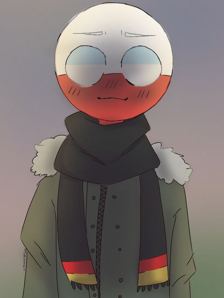 countryhumans Poland with German scarf Country art