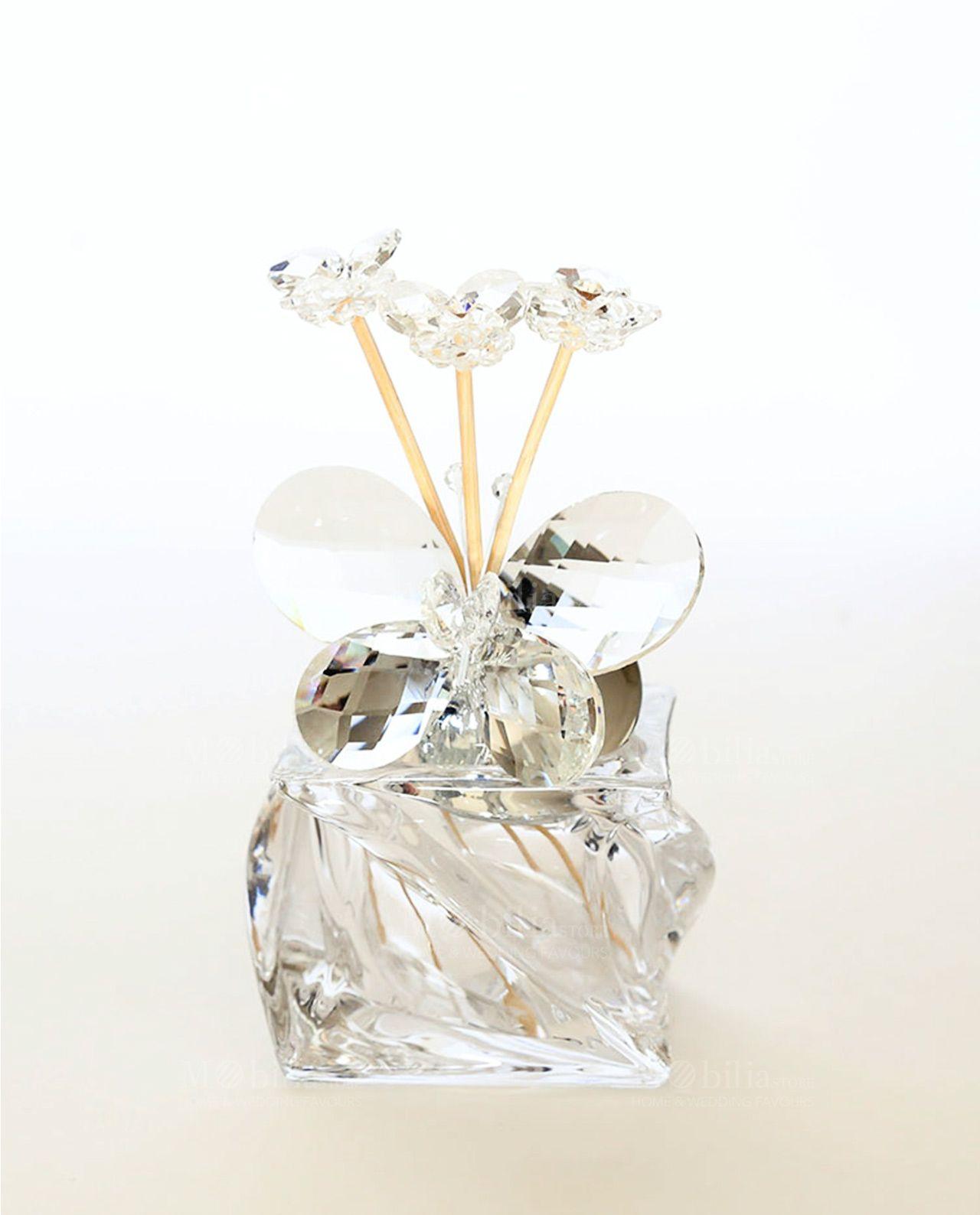 Profumatore ambienti con farfalla swarovski per bomboniere for Mobilia wedding