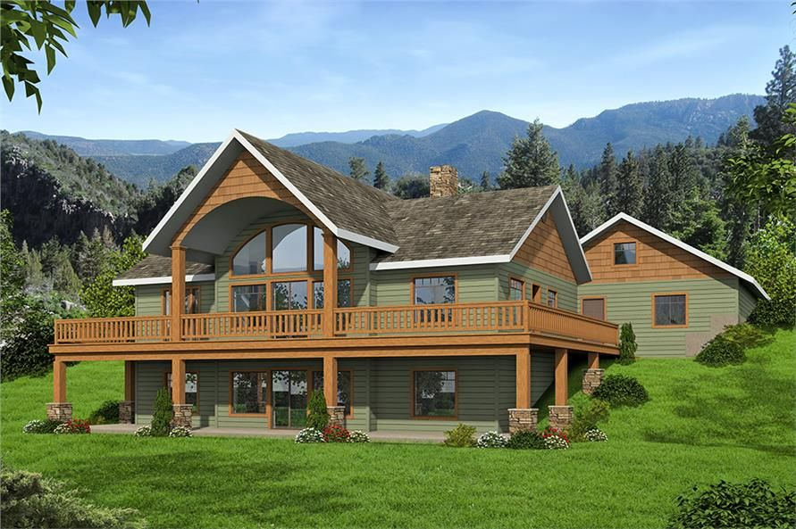 Luxury Rustic Mountain Style Home Theplancollection House Plan 132 1649 Log Home Floor Plans Basement House Plans Mountain House Plans