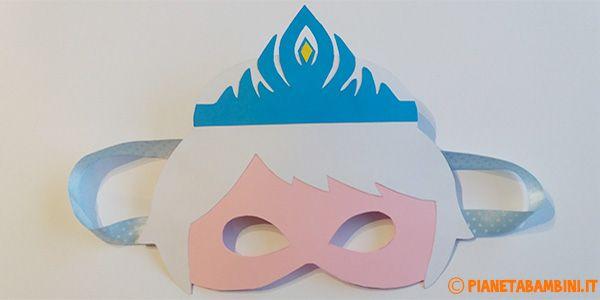 Maschera Di Elsa Di Frozen Fai Da Te Con Sagome Da Stampare