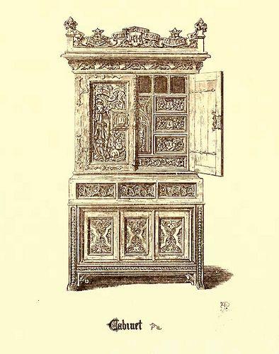 19- Muebles estilo gotico S. XV- Armario- Cabinet | Menusier en ...