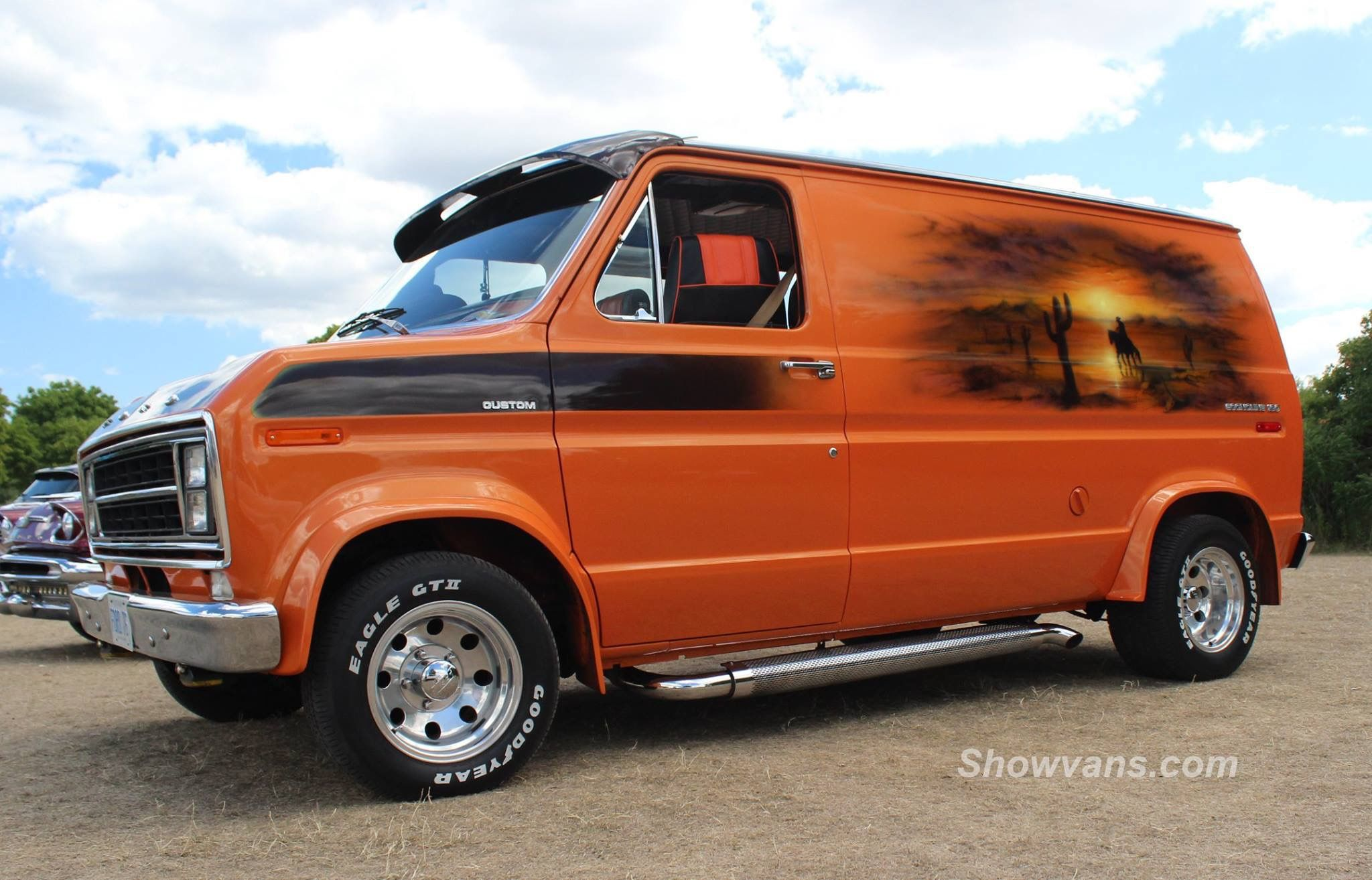 Custom 70 S Ford Van With Images Custom Vans Ford Van Cool Vans