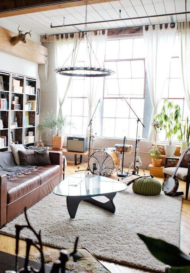 Vivian S Converted Loft In Oakland Music Room Design Eclectic Living Room Design Eclectic Living Room