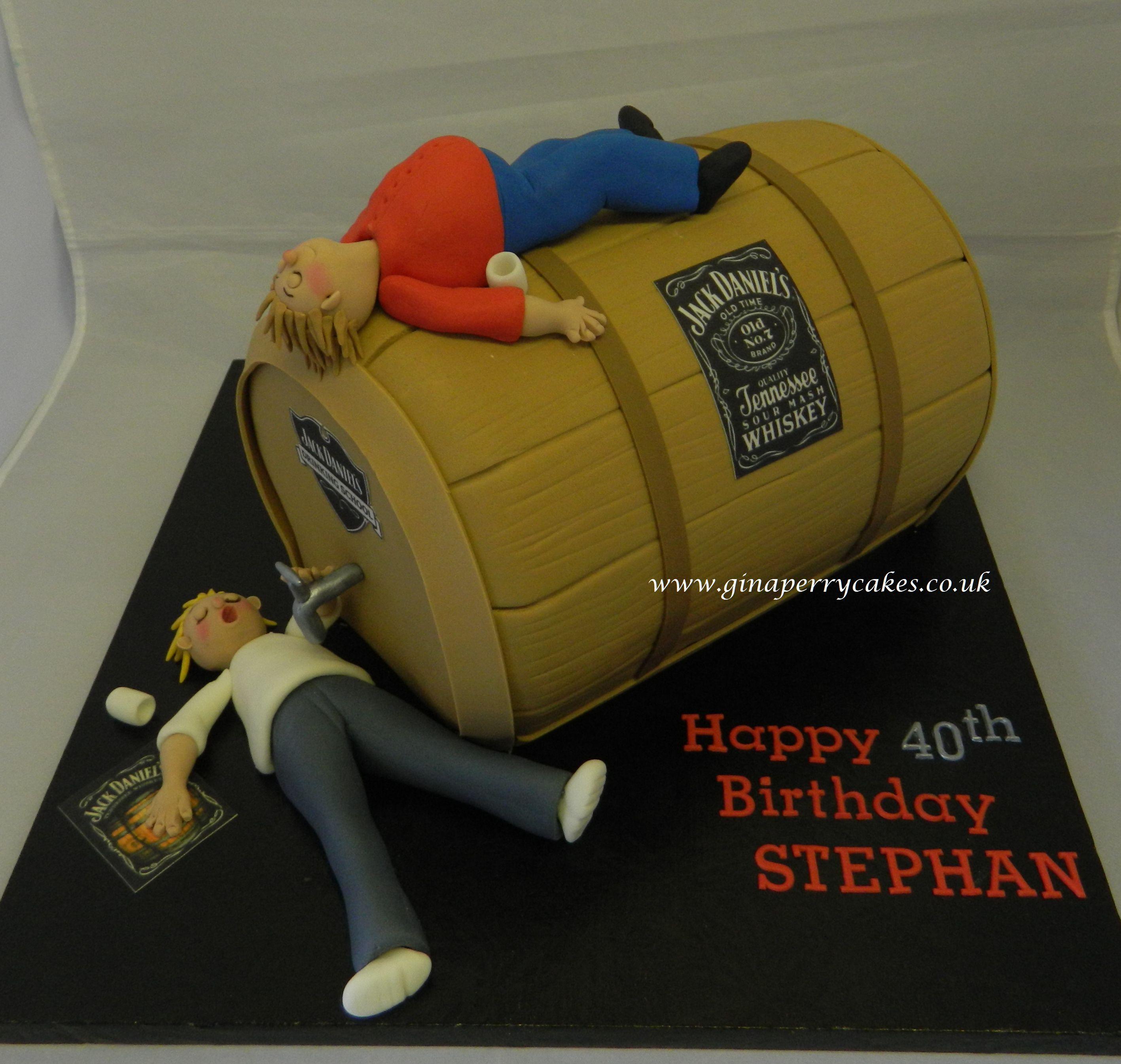 40th Birthday cake these guys enjoying some Jack Daniels cakes