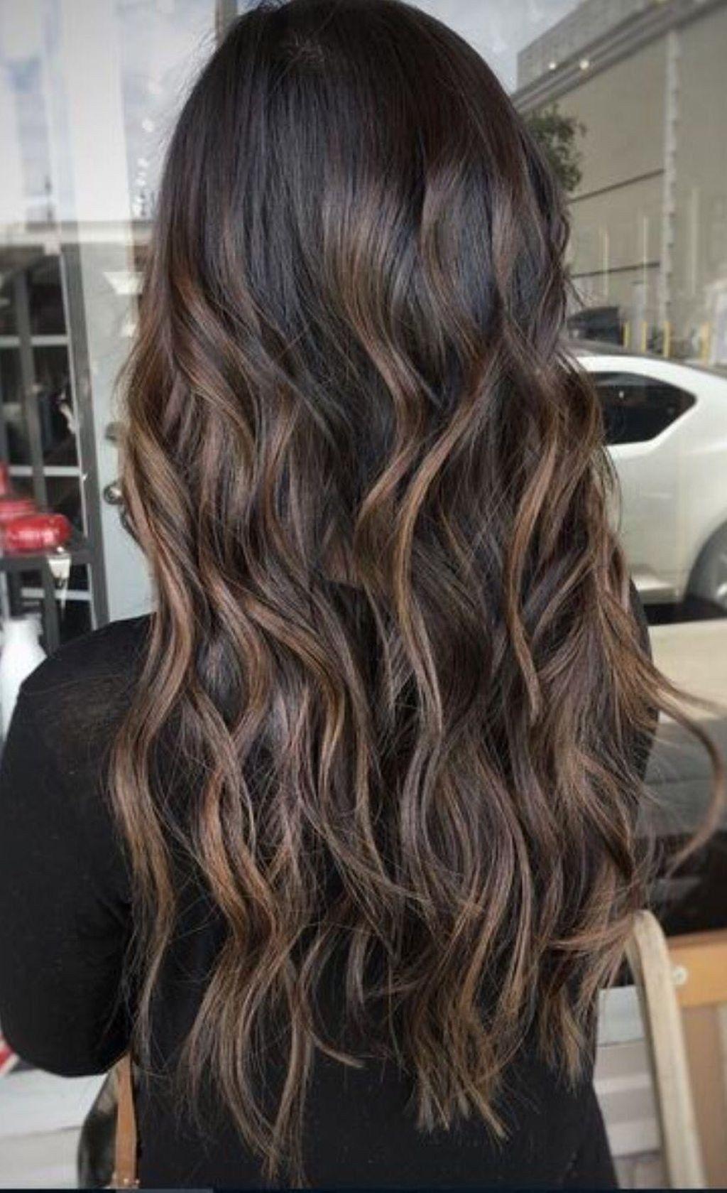 52 Unique Dark Brown Hair Color Highlights Carmel Brown Hair