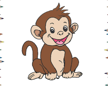 How To Draw A Baby Monkey Cute And Easy Cartoon Monkey