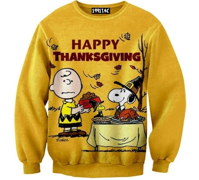 Charlie Brown Happy Thanksgiving Crewneck Sweater | Fashion ...