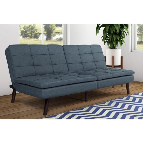 Dhp Premium Blue Westbury Linen Pillowtop Futon Com Ping The Best Deals On Futons