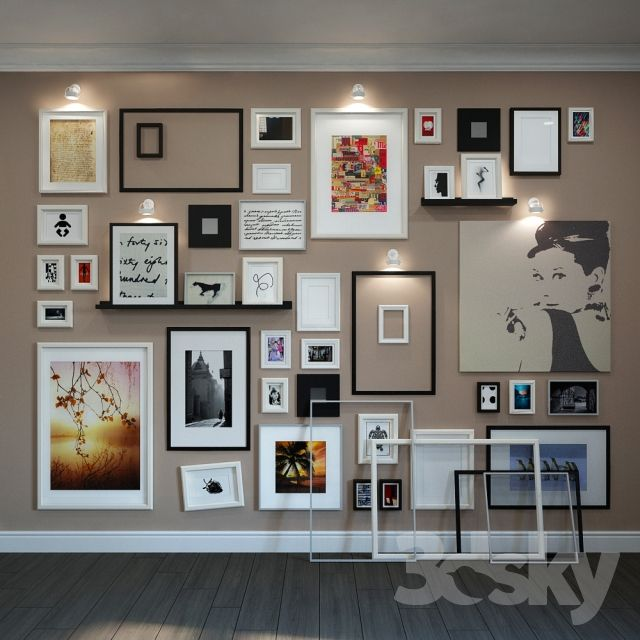 3d Models Frame Wall Composition Of The Frames Ikea